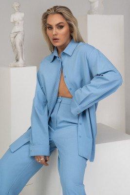 Angelica Blick x NA-KD Angelica Blick x NA-KD Oversized Shirt - Blue