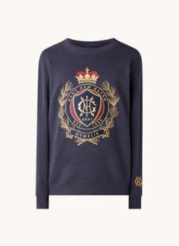 Gant Gant Royal Crest sweater met logoborduring