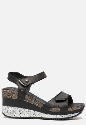 Panama Jack Panama Jack Nica Sport B1 sandalen met sleehak zwart