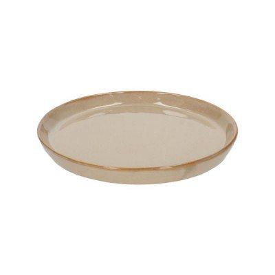 DilleenKamille Bord reactief glazuur, steengoed, zand,Ø 20,5 cm