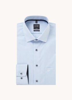 Olymp Olymp Modern fit overhemd met streepprint en borstzak