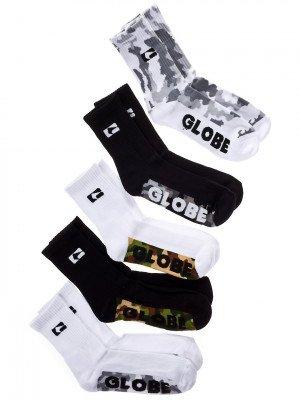 Globe Globe Malcom Crew 7-11 5Pk Socks camouflage