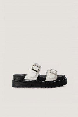 NA-KD Shoes Sandalen - White