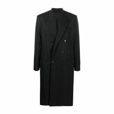 Balenciaga double-breasted fluid coat