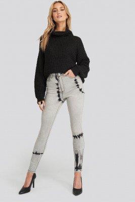 NA-KD NA-KD Tie Dye Skinny Jeans - Grey