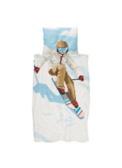 Snurk Snurk Ski Boy biologisch katoenen kinderdekbedovertrekset 160TC - inclusief kussenslopen