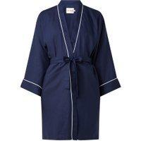 Le Nap Kimono van tencel met contrasterende bies