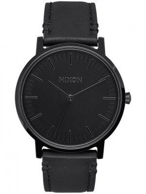 Nixon Nixon The Porter Leather zwart