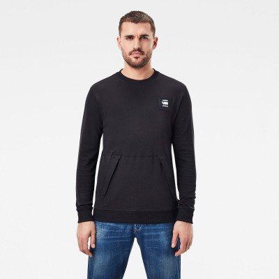 G-Star RAW Box Logo Pocket Tweater - Zwart - Heren