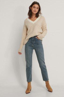 Trendyol Trendyol Mom Jeans Met Hoge Taille - Blue