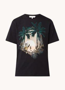 MUNTHE MUNTHE Pata T-shirt met tropische print