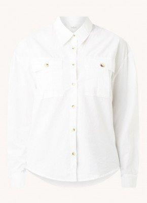 BAenSH ba&sh Pepa blouse met borstzakken