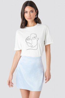 NA-KD Trend NA-KD Trend Satin Mini Skirt - Blue