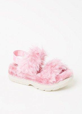 Ugg UGG Fluff Sugar sandaal van imitatiebont
