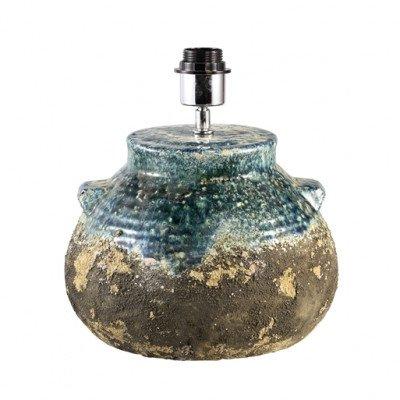 Firawonen.nl PTMD Terra blue ceramic jug round base lampfoot