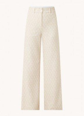 Vanilia Vanilia High waist wide fit pantalon met zig-zag dessin