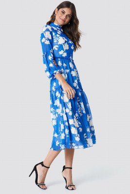 Trendyol Trendyol Volcano Belted Maxi Dress - Blue