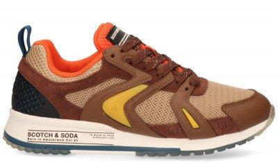 Scotch And Soda Scotch And Soda Vivex Bruin/Multicolor Herensneakers