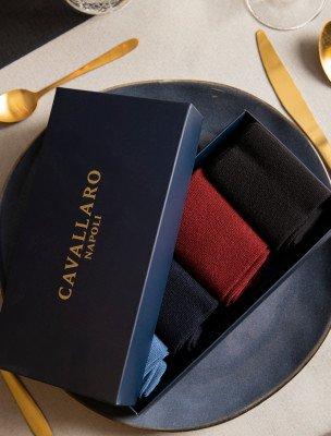 Cavallaro Napoli Cavallaro Napoli Heren Ondershirts - Socks 4-pack - Multi colour
