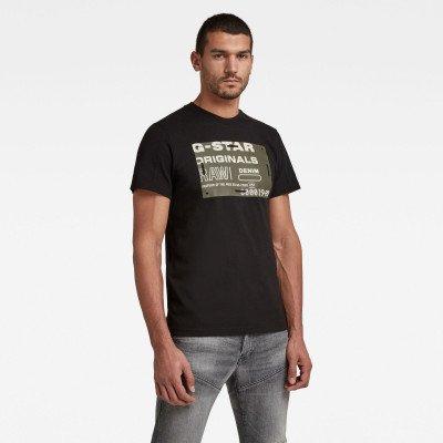 G-Star RAW Flock Badge Graphic T-Shirt - Zwart - Heren