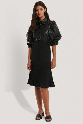 NA-KD NA-KD Pleated Detail Skirt - Black