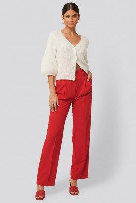 NA-KD Classic NA-KD Classic High Waist Darted Pants - Red