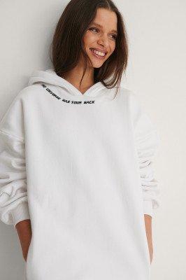 NA-KD NA-KD Organisch Hoodie - White
