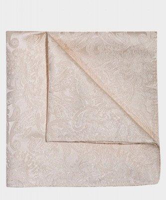 Michaelis Michaelis heren paisley zijden pochet gebroken wit