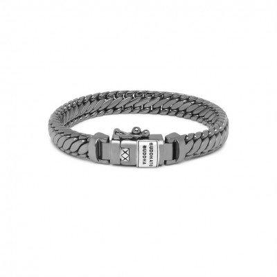 Buddha to Buddha Buddha to Buddha Bracelet Ben XS Black Rhodium Shine Silver