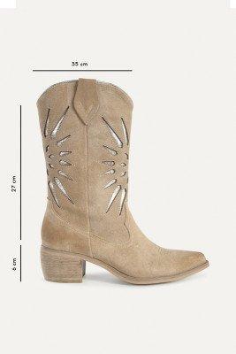 Shoecolate Shoecolate Cowboylaarzen Hak Beige 8.20.08.036.03