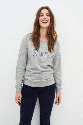 Kuyichi Ruby Pure Sweater - Grey Melange - M