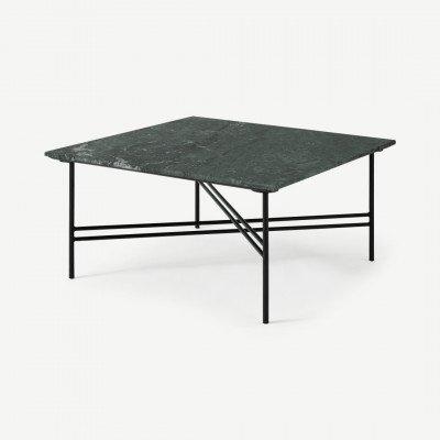 MADE.COM Ailish vierkante salontafel, groen marmer