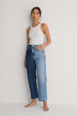 NA-KD Trend NA-KD Trend Rechte Jeans Met Hoge Taille - Blue