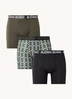 Bjorn Borg Björn Borg Performance boxershorts met logoband in 3-pack