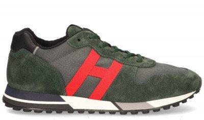 Hogan Hogan H383 Groen/Rood Herensneakers