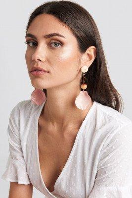 Mango MANGO Iris Earrings - Pink,Orange