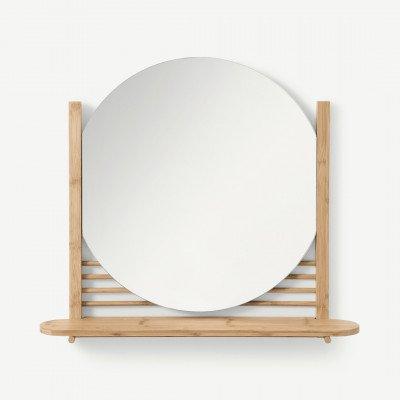 MADE.COM Gian spiegel met plank, bamboe
