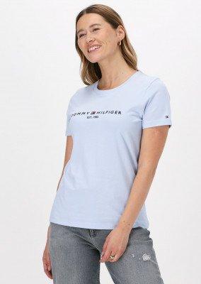 Tommy Hilfiger Lichtblauwe Tommy Hilfiger T-shirt Regular Hilfiger C-nk Tee Ss