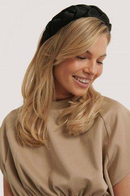 NA-KD Accessories NA-KD Accessories Grote Gevlochten Haarband - Black