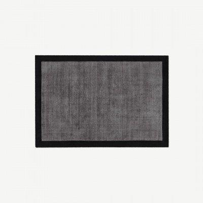 MADE.COM Jago vloerkleed, groot, 160 x 230cm, donker houtskoolgrijs en zilvergrijs