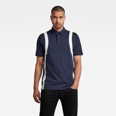G-Star RAW Polo Printed Stripe - Donkerblauw - Heren