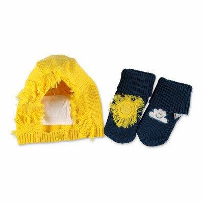Stella Mccartney Katoen en wol set met hoed & prewalker schoenen