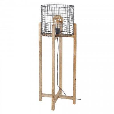 LifestyleFurn Vloerlamp 'Tessi' Mangohout, 107cm