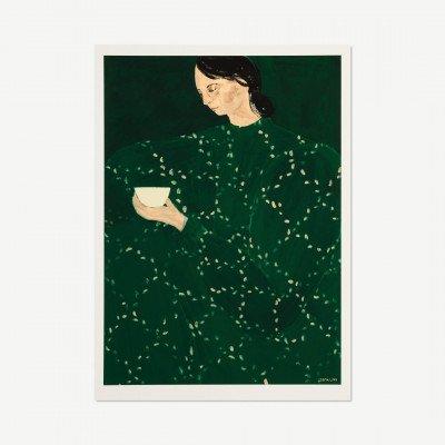 MADE.COM The Poster Club Coffee Alone at Place de Clichy,, print door Sofia Lind, 70 x 100 cm