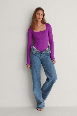 NA-KD Swimwear NA-KD Swimwear Gerecycleerd Bodysuit - Purple