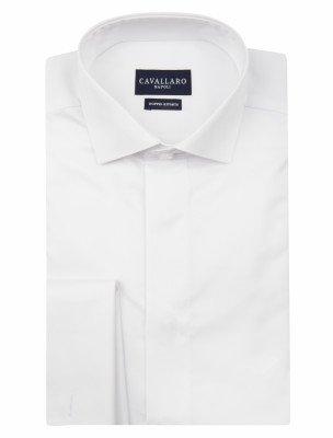 Cavallaro Napoli Cavallaro Napoli Heren Overhemd - Nosto Ceremonial Bianco Overhemd - Wit
