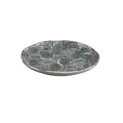Firawonen.nl PTMD Peacock Grey keramiek schaal rond L