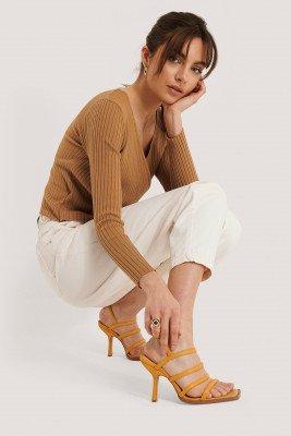 NA-KD Shoes NA-KD Shoes Sandalen - Yellow