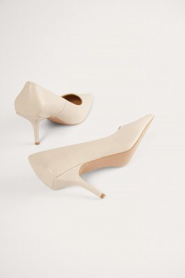 NA-KD Shoes NA-KD Shoes Squared Counter Pumps - Beige