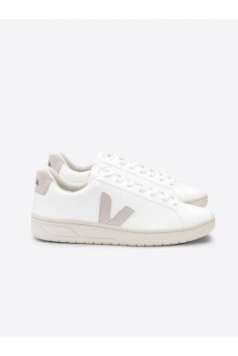 Veja Veja unisex vegan Sneaker URCA Wit Wit 37 Biologisch katoen/Gerecycled plastic (visnetten, flesjes, nylon, polyester)/Natuurlijk rubber/Rubber